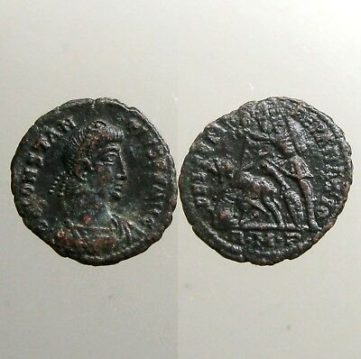 CONSTANTIUS II BRONZE AE3___Son of Constantine the Great___SPEARING HORSEMAN