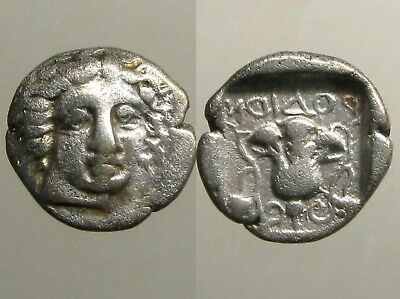 RHODOS CARIA SILVER HEMIDRACHM__Helios & Rose__394-387 BC___HOME OF THE COLOSSUS