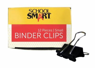 Binder Clips Set Office Supplies Steel 3/4in W 3/8 Capacity 24 Pack Paper New