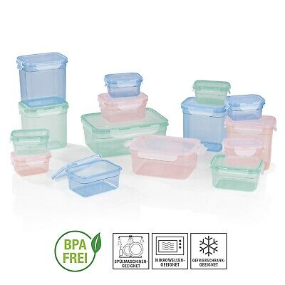 Frischhaltedosen Set Klick-It Gefrierdosen Lunchbox Brotdose 30-tlg. bunt