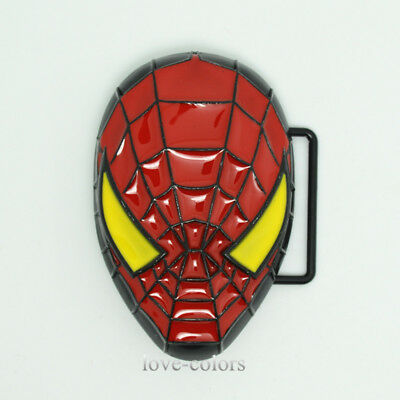New Mens Superhero Spider-Man Metal Belt Buckle Red Yellow Cosplay Cosplay Gift