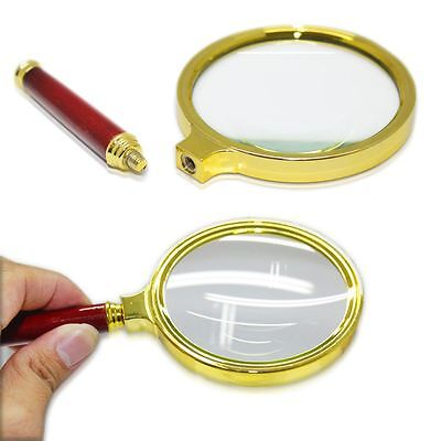 10X Magnifier Magnifying Glass with 90mm Handheld Jewelry Classic Loupe Reading