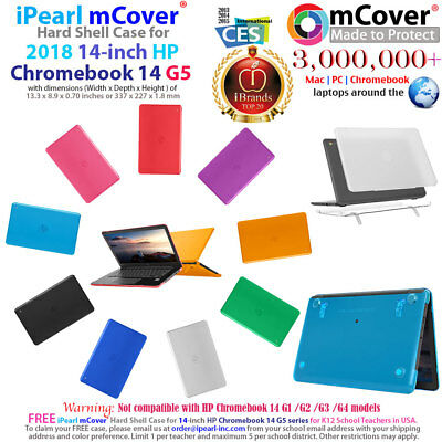 "mCover Hard Case for 2018 14"" HP Chromebook 14 G5 series Laptop Computers"