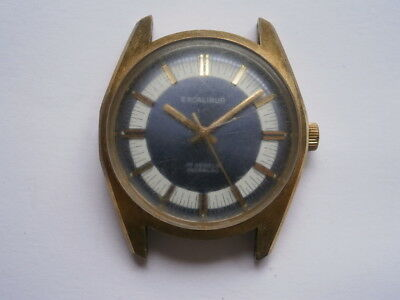 Vintage gents wristwatch EXCALIBUR mechanical watch working swiss made