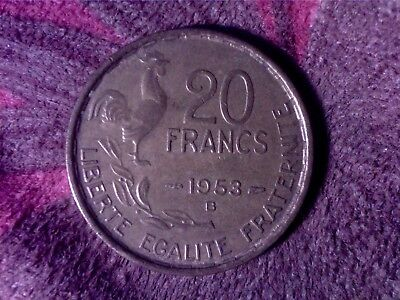 Colombia  20  Francs   1953   B  Mo