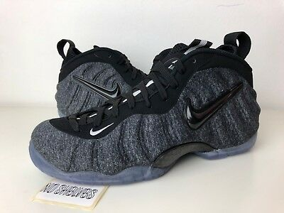 online store 9c152 b64d4 NIKE AIR FOAMPOSITE Pro Tech Fleece Wool Dark Grey Black 624041 007 Sz 7  7.5 8.5