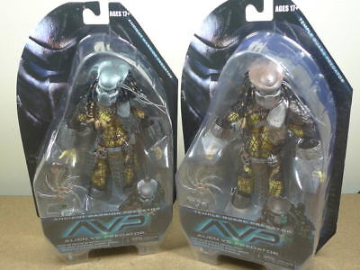 NECA Series 15 Alien vs Predator AVP Ancient Warrior & Temple Guard figures BN