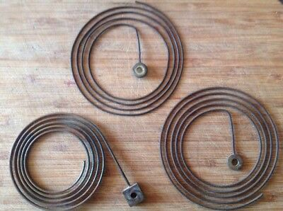 Antique Clock Chimes Gongs Rods Collection Of Three 80-100mm Spare Parts