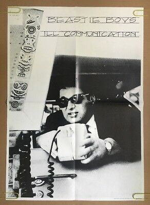 The Beastie Boys Ill Communication Vintage Poster Promo 1990's Pin-up Music 1994