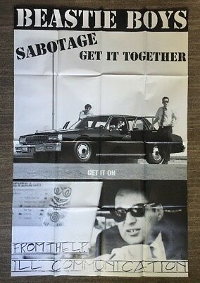 The Beastie Boys Ill Communication Vintage Poster Promo 1990's Huge Pin-up Music
