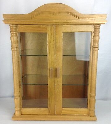 Small Wall Mounted Curio Cabinet Wall Display Case W Glass Door