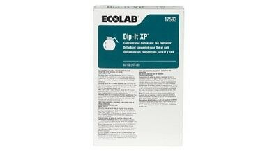 4 boxes Ecolab Dip It XP Concentrated Coffee&Tea Destainer 17583, 1.75 LB Box x4