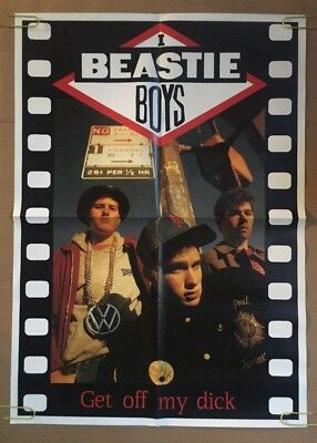 The Beastie Boys Get Off My D#ck Vintage Poster Promo 1980's Pin-up Retro Music