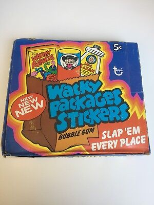 1974 Topps Wacky Packages 10Th Series Display Box All There & Very Nice Shape!!