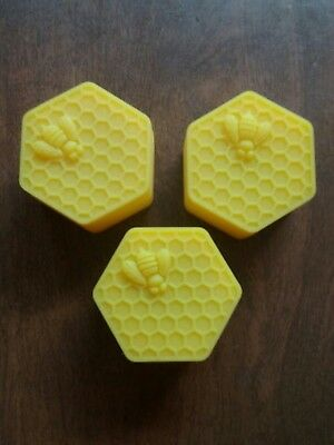 3 Large Wax Containers Yellow Beehive Wax Containers. 27 ML Large Silicone