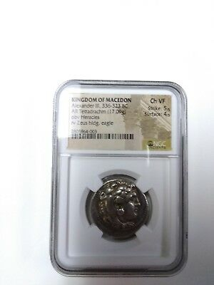 ALEXANDER THE GREAT TETRADRACHM. NGC Graded CH VF