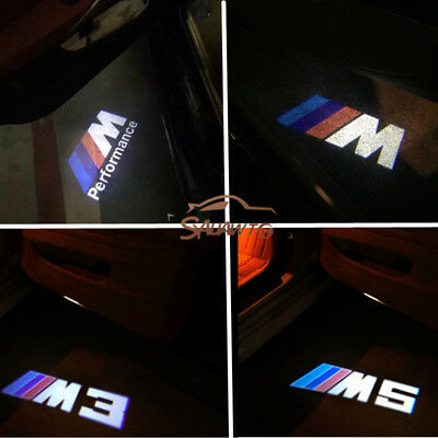 2PC Car LED Door Warning Light welcome Logo Projector For BMW M M3 M5 3ser 5ser
