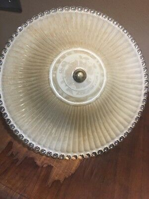 Vintage Art Deco 1930S Glass Light Fixture