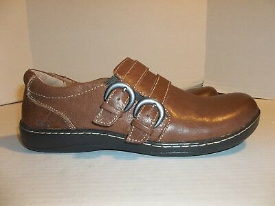 a51a045fbf92 WOMENS SIZE 9.5M b.o.c. Born Concept Brown Leather Slip On Loafers -  17.99