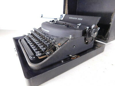 Vintage c1940s SLEEK Remington Rand Noiseless Manual Typewriter w Case
