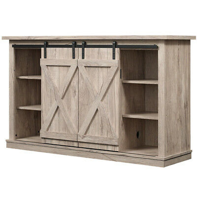 Rustic TV Stand Console Barn Door Wood Entertainment Center Media Storage  Pine Rustic Entertainment Center33