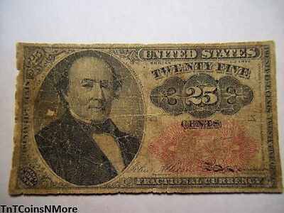 1874 25c Fractional Currency US Banknote 5th Issue Circulated Collectible