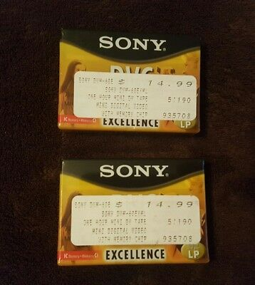 Sony Tapes DVM60EXML -  Excellence 60 IC Memory   5  MiniDV tapes