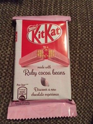 Ruby KitKat Pink Four Finger  Chocolate Bar  Nestle WORLDWIDE DELIVERY