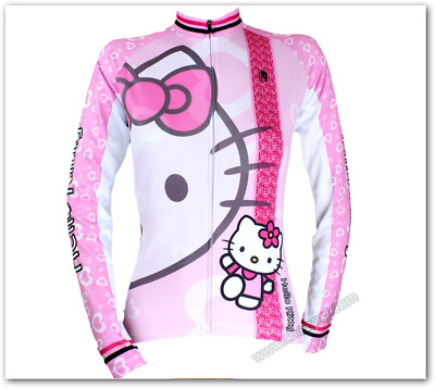 Hello kitty pink black Jersey Bicycle Clothing Bike malliot