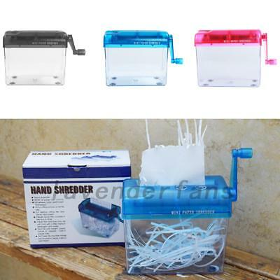 Mini Shredder Paper Cutting Hand Operated Home Office Machine Equipment A4/A5/A6