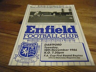 18.11.1986     ENFIELD  v DARTFORD       F.A.CUP  1st Rd REPLAY  VGC