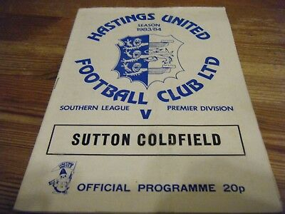 24.03.1984   HASTINGS  UNITED  v SUTTON  COLDFIELD      SOUTHERN LEAGUE  PREMIER