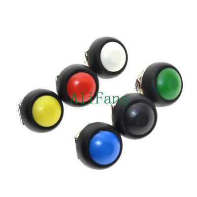 6 Colors 12mm Mini Round Switch Waterproof Momentary ON/OFF Push Button