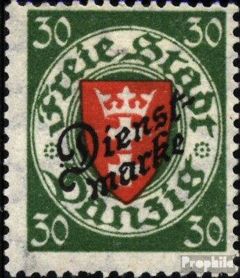 Gdansk D47aa tested fine used / cancelled 1924 service mark