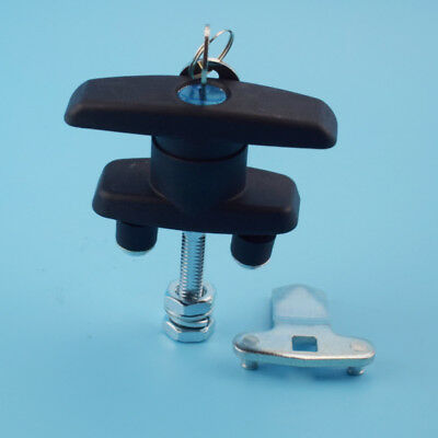 Single T Handle Latch/Lock Keyed Alike Coated For Cabinets Security