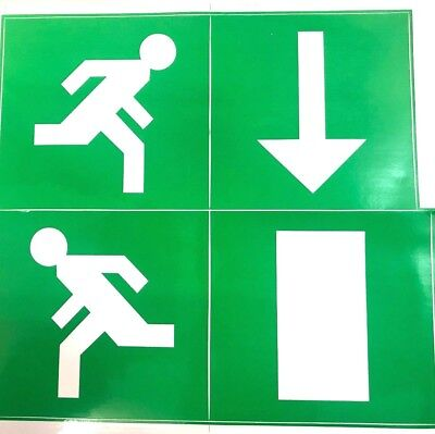 Emergency light Exit Legend Pack directional arrow, door and running man set