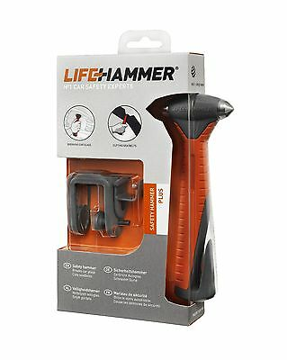 Genuine LifeHammer -PLUS- Car Safety Seat Belt Cutter Break Glass Life Hammer
