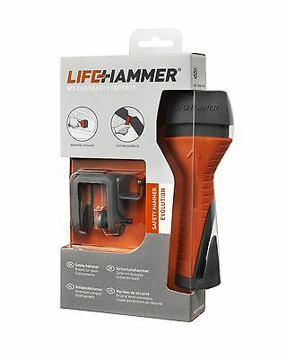 Genuine LifeHammer® Evolution Seat Belt Cutter Break Glass Escape Life Hammer