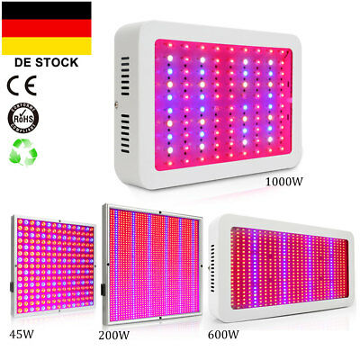 DE 45W 200W 600W 1000W LED Grow Light Wachsen Licht VollSpektrum Veg Wuchs Blüte