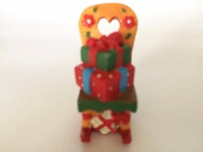 NEW Mary Engelbreit Miniature Figure Collectible Mini Holiday CHRISTMAS CHAIR