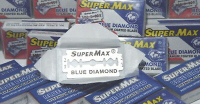 Super-Max Blue Diamond Titanium Double Edged Razor Blades
