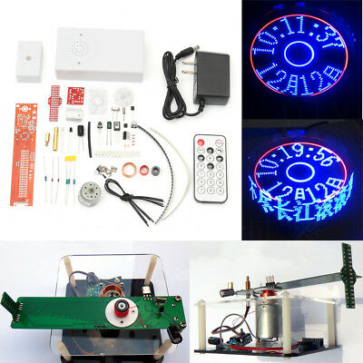 Electronic Clock Rotating LED Kit Remote Control Welding Digital DIY Parts