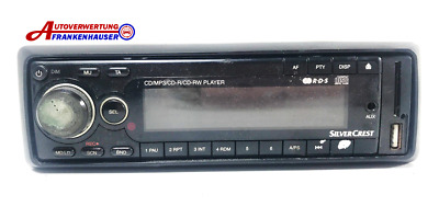 Autoradio Silvercrest CD MP3 Front Aux USB Kartenleser
