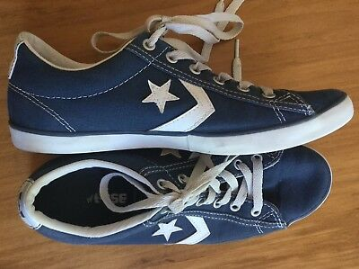 Converse All Star Denim Blue White Canvas Shoes Sneakers Trainers Wo's 7.5 Men 6