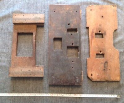 Antique Grandfather Longcase Clock Seat Boards