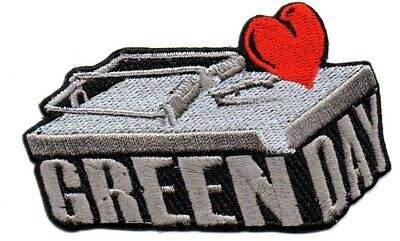 Green Day-Shaped Mousetrap-Official Sew On Embroidered Patch