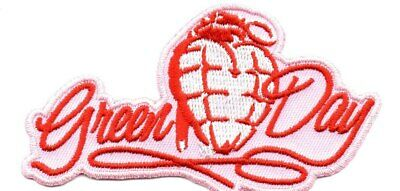 Green Day-Shaped Pink Grenade-Official Sew On Embroidered Patch