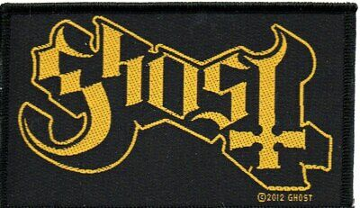 GHOST-Gold Logo-Official Sew On Woven Patch