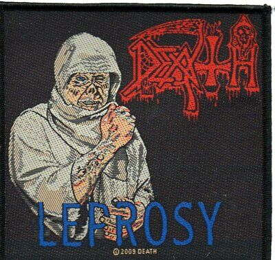 """DEATH """"LEPROSY""""-Official Sew On Woven Patch"""