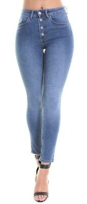 Ex H&M Womens Mid Waisted Skinny Slim Jeans Jeggings Ladies Faded Pants 6 to 16